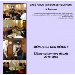 Mémoires du CAFÉ PHILO - 2018-2019